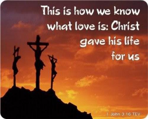 1 John 3:16 Image