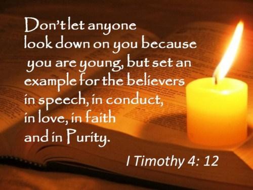 1 Timothy 4:12 Image