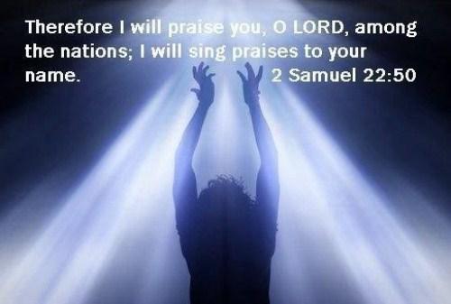 2 Samuel 22:50 Image
