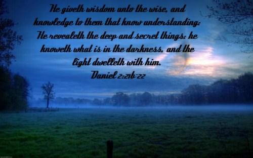 Daniel 2:21-22