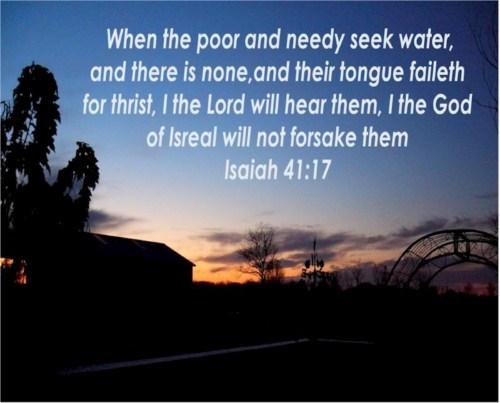 Isaiah 41:17