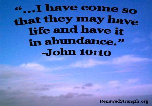 John 10:10 Image